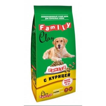Clan / Клан Family сухой корм для собак всех пород Курица № 2, 15 кг