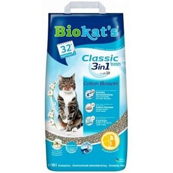 """Biokat's / БиоКэтс наполнитель BIOKAT'S """"Классик Фреш 3 в 1 с ароматом хлопка"""", 10л (бумага)"""
