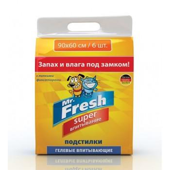 Mr.Fresh / М.Фреш Super 90х60 Пеленки повышенной впитываемости 6шт