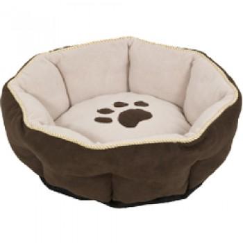 Petmate / Петмейт Лежак для кошек и мелких собак, с мягкими бортиками, круглый, диаметр 46 (см)