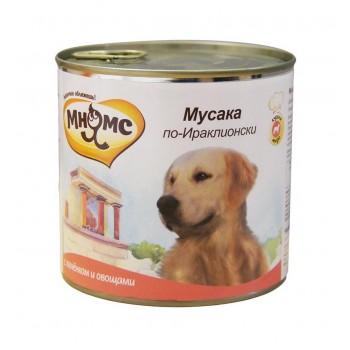 Мнямс консервы для собак Мусака по-Ираклионски (ягненок с овощами) 600 г