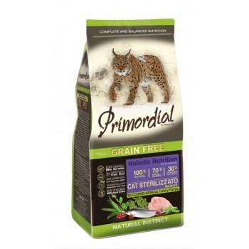 PRIMORDIAL / ПРИМОРДИАЛ Корм сух для кошек стерилизованных б/зерн индейка сельдьр 400 гр