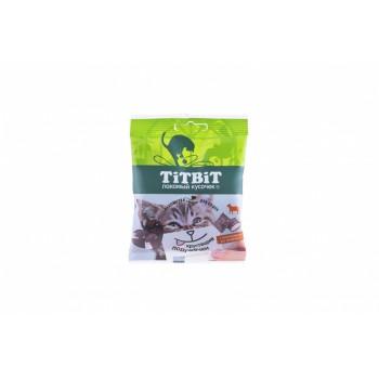 TitBit / ТитБит Хрустящие подушечки для кошек с паштетом из ягненка 30 г