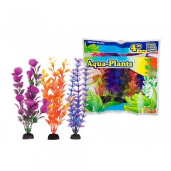Penn-Plax / Пен-Плакс Растение AQUA-PLANTS 30см цветное 6шт/уп с грузом PBP2L