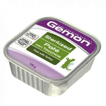 Gemon / Гемон Cat Sterilised консервы для стерилизованных кошек паштет индейка 100 г