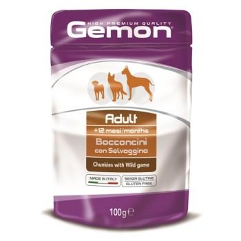Gemon Dog Pouch паучи для собак кусочки дичи 100 г