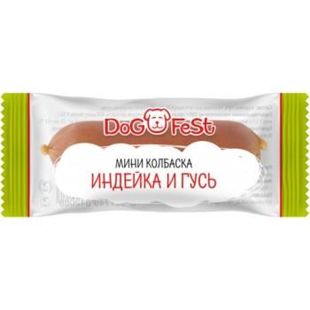 Dog Fest / Дог Фест Мини колбаска ИНДЕЙКА И ГУСЬ 6 гр х 20 шт