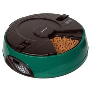 Feedex / Фидекс Автокормушка на 6 кормлений для сухого корма и консерв Зеленая