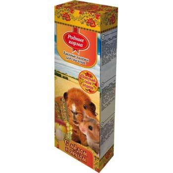 Родные корма Зерновая палочка для грызунов 45г х 2шт. яично-медовая 1х18 3208