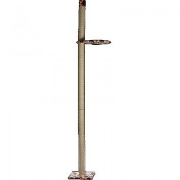 Зооник 22345 Когтеточка на подставке с гамаком,сизаль, 2,7м (740х450х2700)