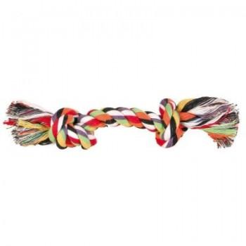"""Trixie / Трикси Игрушка д/собак """"Веревка с 2-мя узлами"""" цветная, хлопок 25гр*15см 3270"""