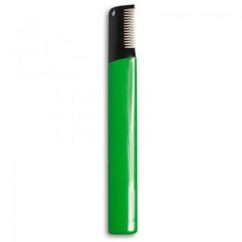 Hello PET Тримминг редкий с ручкой (зеленый) 1026