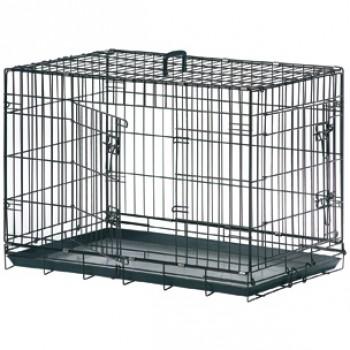 Karlie-Flamingo / Карли Фламинго Клетка для собак черная, 2 двери 63*43*49 см