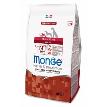 Monge / Монж Dog Speciality Mini корм для взрослых собак мелких пород ягненок с рисом и картофелем 800г