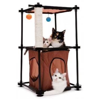 """Kitty City Игровой комплекс с когтеточкой для кошек: Биг Бен. """"Tower"""": 79*45*45см, сизаль (sp0301)"""