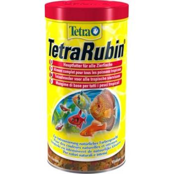 TetraRubin / Тетра корм в хлопьях для улучшения окраса всех видов рыб 1 л