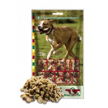 Green Qzin / Грин Кьюзин 030 Лакомство д\собак Дрессура №2 Train treat (индейка + треска) 50гр