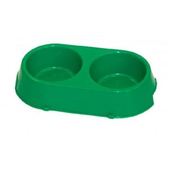 Yami-Yami / Ями-Ями Двойная миска для собак пластиковая, 16,5*30см (1345)