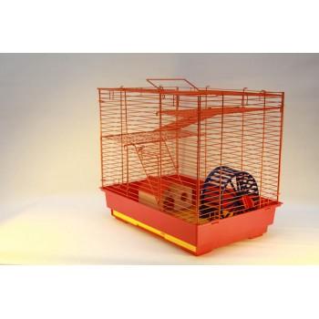 Yami-Yami / Ями-Ями Vip-клетка №2 д/грызунов, 41*30*37см, 2этажа, домик, колесо (14см), миска (6см) (4042)
