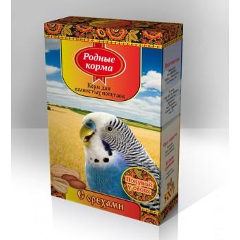 Родные корма Корм для волнистых попугаев 500 г с орехами 1х14 3079