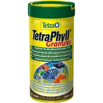 TetraPhyll / Тетра Granules корм для всех видов рыб растительные гранулы 250 мл