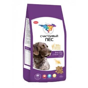 Счастливый пес сухой корм д/собак старше 7 лет с ягненком 13 кг