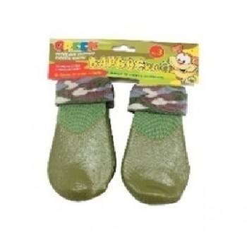 БАРБОСки носки д/собак, высокое латексное покрытие, цвет - зеленый размер - 3