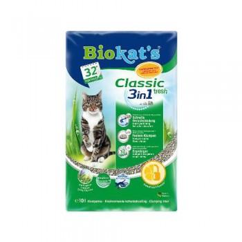 """Biokat's / БиоКэтс наполнитель """"Биокатс Фреш 3 в 1""""(свежий) д/туалета д/кошек, 10 л"""