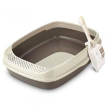Туалет Catidea 46х36х15 см борт, совок, коричневый