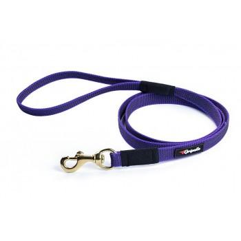 Gripalle / Грипэлле 20-150G 4473 Поводок нейлоновый прорезиненный для собак, фурнитура из латуни 20 мм*150 см, Фиолетовый