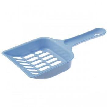 ZooOne Совок с отверстиями для кошачьего туалета 20*9*2,5 см (синий)