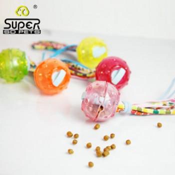 """SuperDesign игрушка для собак """"Мячик с текстильными хвостиками"""" силиконовый 6,5 см"""