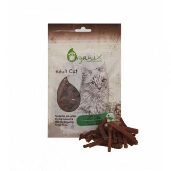 Organix / Органикс Лакомство для кошек Нежная нарезка утиного филе 100% мясо, 50 гр