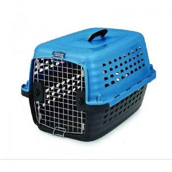 Petmate / Петмейт Переноска д/домашних животных Компасс Фэшн 24 (синяя, пластик) 61x42x36см