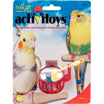 JW Игрушка д/птиц - Барабан, пластик Activitoy Drum (31091)