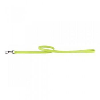 CoLLaR Glamour Поводок кожаный, двойной прошитый без украшений, 122см*9мм, зеленый (33705)