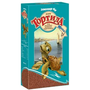 `Тортила Мини` гранулы корм для молодых водяных черепашек 90 г (1х24) 910 (Зоомир)