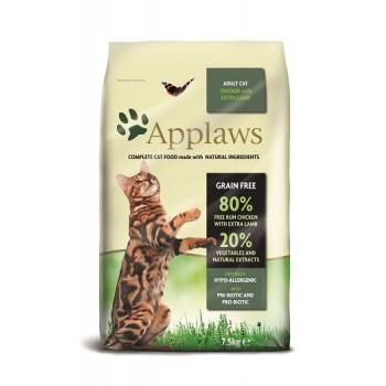 "Applaws / Эпплаус для кошек ""Курица и ягненок 80/20%"" 7,5 кг"