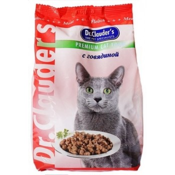 Dr.Clauder's / Др.Клаудер'c Корм сух.д/кошек Говядина 400гр