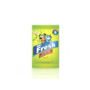 Mr.Fresh / М.Фреш Салфетки влажные д/собак и кошек антибактериальные (15шт)