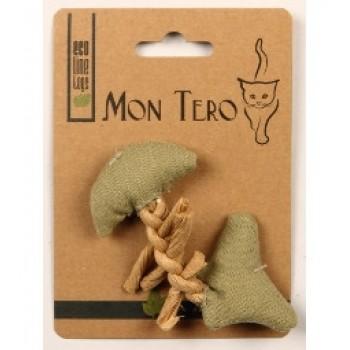 """Mon Tero / Мон Теро ЭКО игрушка для кошек """"Рыбья кость"""", 11 см, с кошач. мятой, зеленая"""