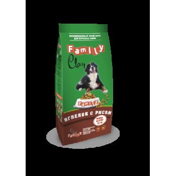Clan / Клан Family сухой гипоаллергенный корм для взрослых собак Ягненок/рис, 15 кг