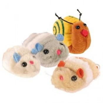 Trixie / Трикси Набор цветных игрушек д/кошек, плюш 7-10см*12шт 4089