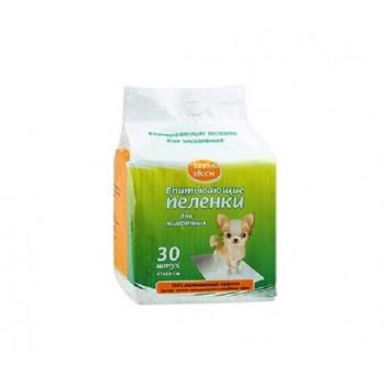 Чистый хвост впитывающие пеленки для животных 30шт 60х45см