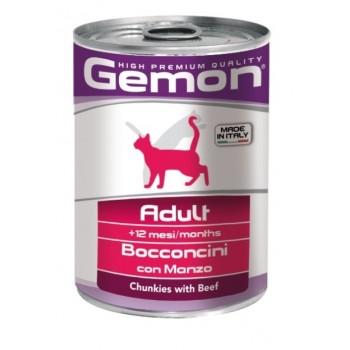 Gemon / Гемон Cat консервы для кошек кусочки говядины 415 г