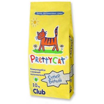 """PrettyCat Наполнитель комкующийся для кошачьих туалетов """"Супер белый"""" 10 кг"""
