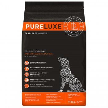 PureLuxe / Пурелюкс для взрослых собак с лососем и горошком, 400г