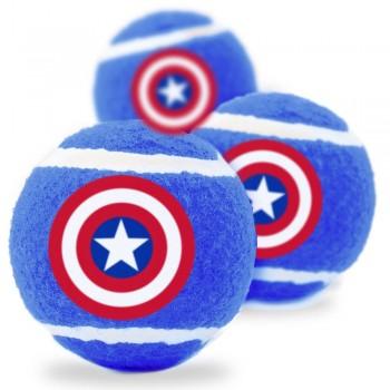 Buckle-Down / Бакл-Даун Капитан Америка синий цвет теннисные мячики