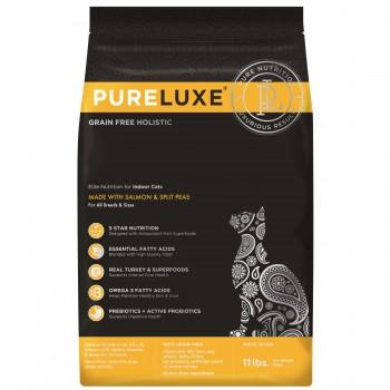 PureLuxe / Пурелюкс для домашних кошек с лососем и горошком, 400г