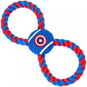 Buckle-Down / Бакл-Даун Капитан Америка синий цвет мячик на верёвке